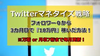 Twitterマネタイズ戦略|フォロワー0から3カ月目で18万円稼いだ方法!
